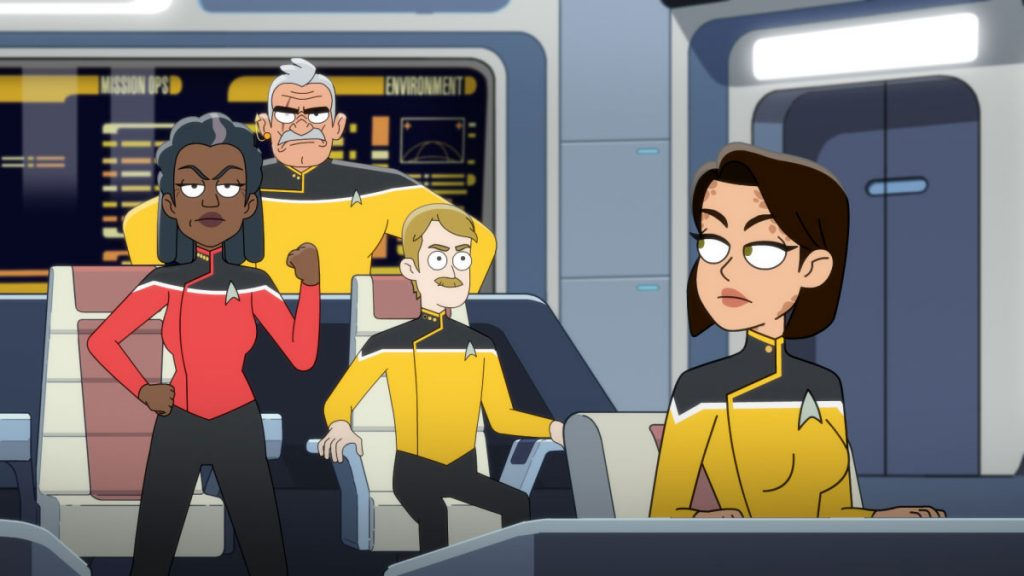 Dawnn Lewis as Captain Carol Freeman, Fred Tatasciore as Lieutenant Shaxs, Paul Scheer as Lt. Commander Andy Billups