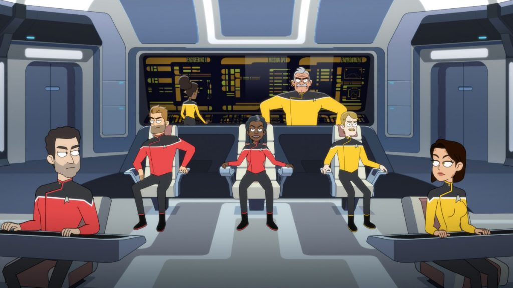 Jerry O'Connell as Commander Jack Ransom, Dawnn Lewis as Captain Carol Freeman, Fred Tatasciore as Lieutenant Shaxs and Paul Scheer as Lt. Commander Andy Billups