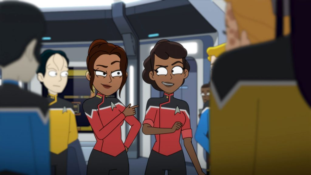 Toks Olagundoye as Capt. Amina Ramsey and Tawny Newsome as Ensign Beckett Mariner