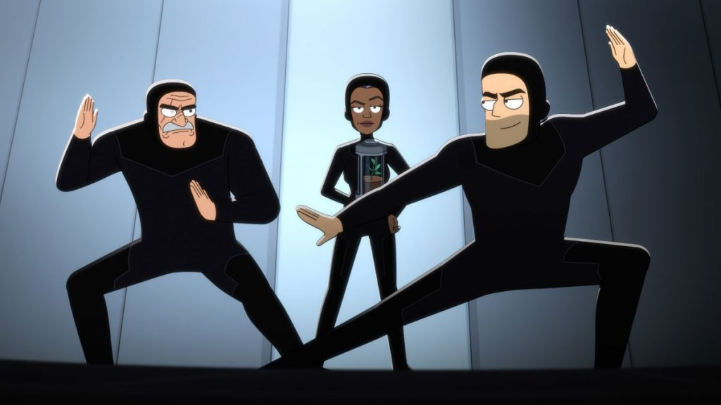 Fred Tatasciore as Lieutenant Shaxs, Dawnn Lewis as Captain Carol Freeman and Jerry O'Connell as Commander Jack Ransom