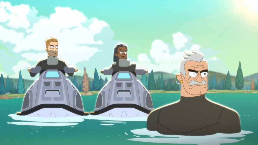 Jerry O'Connell as Commander Ransom, Dawnn Lewis as Captain Freeman and Fred Tatasciore as Lieutenant Shaxs