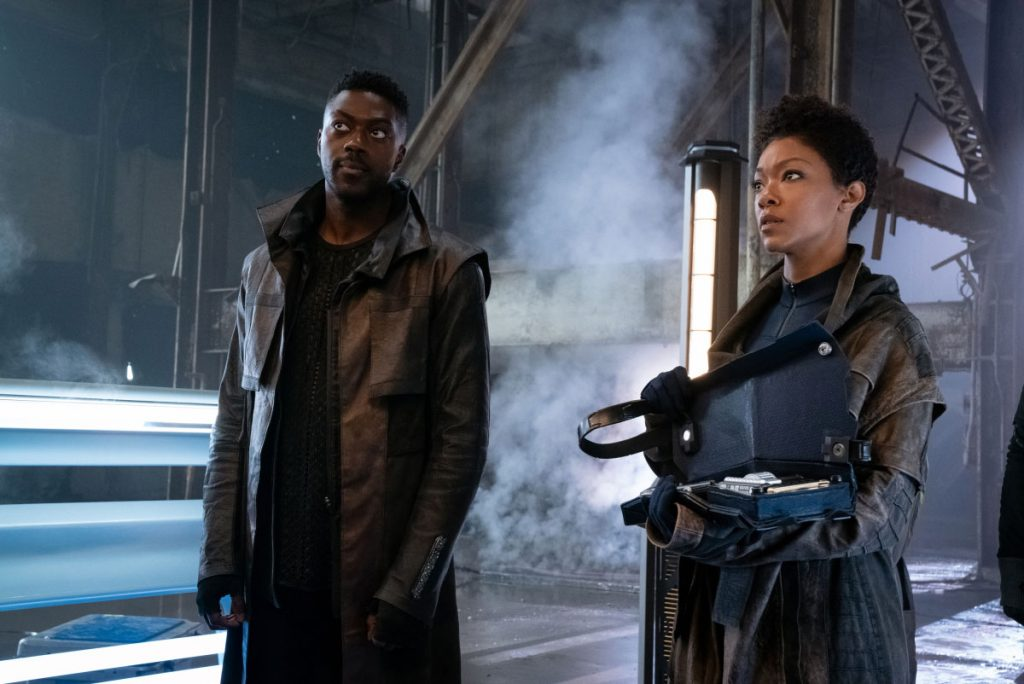 David Ajala as Book and Sonequa Martin-Green as Burnham
