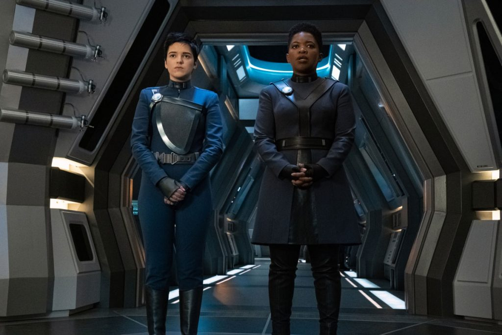 Blu del Barrio as Adira and Phumzile Sitole as Captain Ndoye