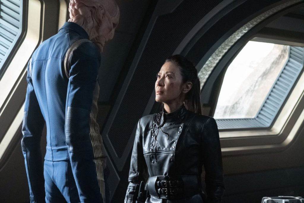 Doug Jones as Saru and Michelle Yeoh as Georgiou