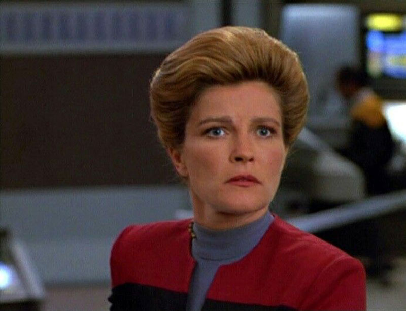 Kate Mulgrew as Captain Kathryn Janeway on Star Trek Voyager