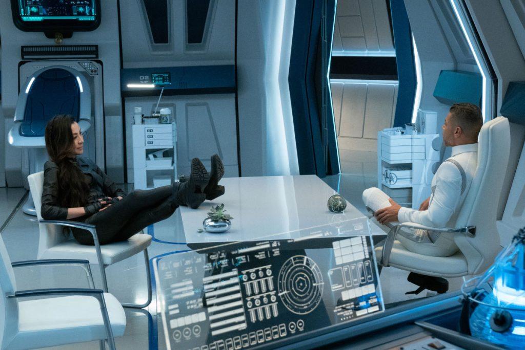 Michelle Yeoh as Capt. Georgiou and Wilson Cruz as Dr. Hugh Culber