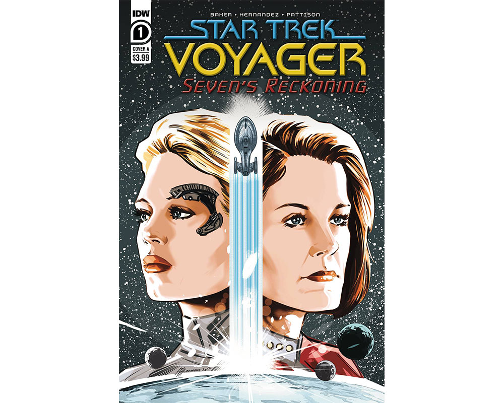 Regular cover of Star Trek:  Voyager - Seven's Reckoning #1 by Angel Hernandez and Charlie Kirchoff