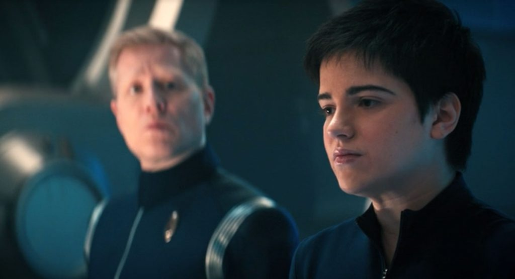 Anthony Rapp as Stamets and Blu del Barrio as Adira