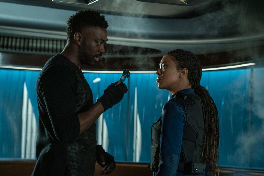 David Ajala as Book and Sonequa Martin-Green as Commander Burnham