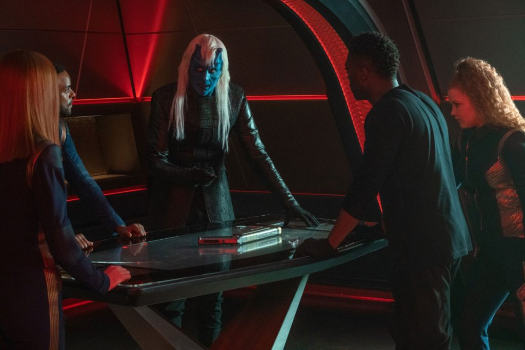 Emily Coutts as Lt. Keyla Detmer, Ronnie Rowe Jr as Lt. Bryce, Noah Averbach-Katz as Ryn, David Ajala as Book and Mary Wiseman as Ensign Silvia Tilly