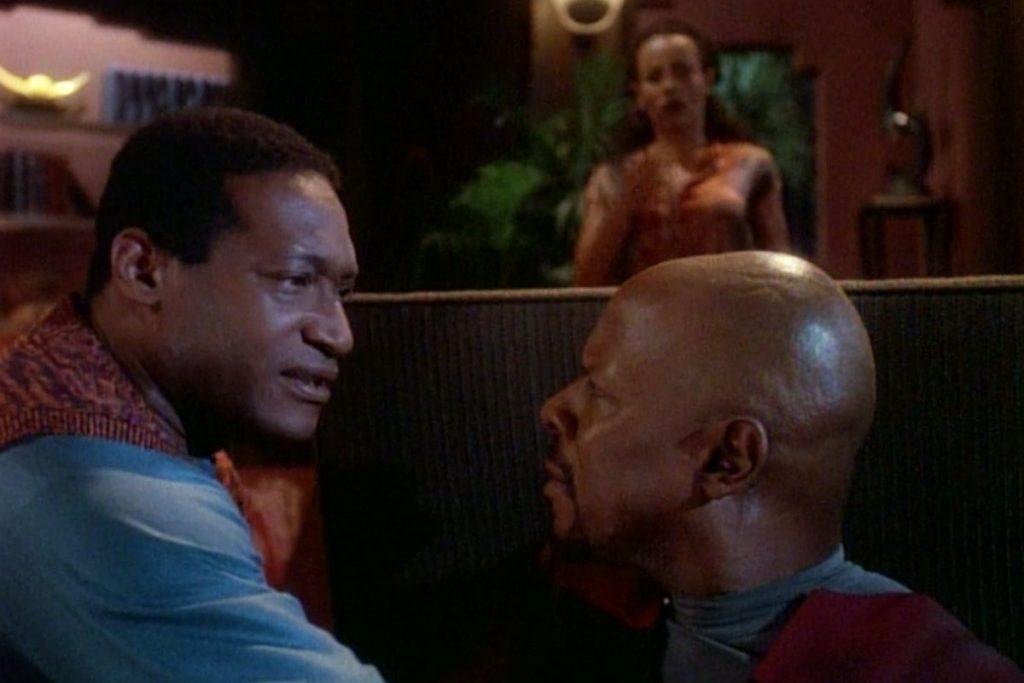 Tony Todd as Jake Sisko and Avery Brooks as Ben Sisko