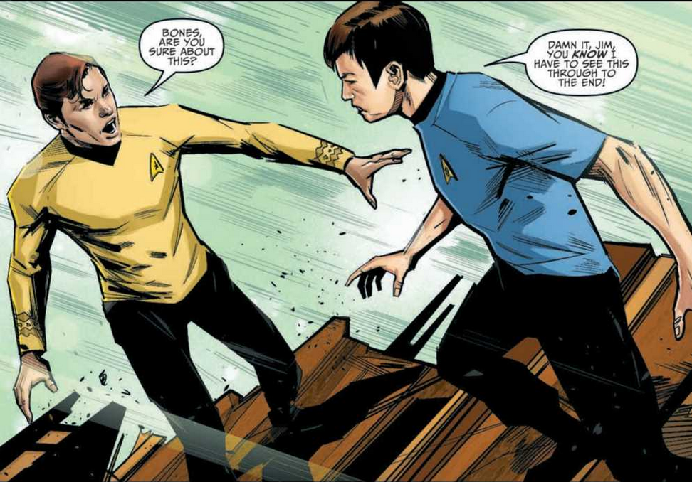 Art from Star Trek Year Five 18 by Angel Hernandez & Fran Gamboa