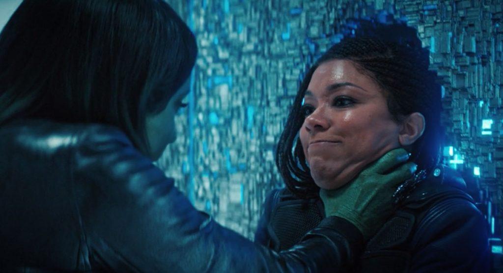 Janet Kidder as Osyraa and Sonequa Martin-Green as Burnham