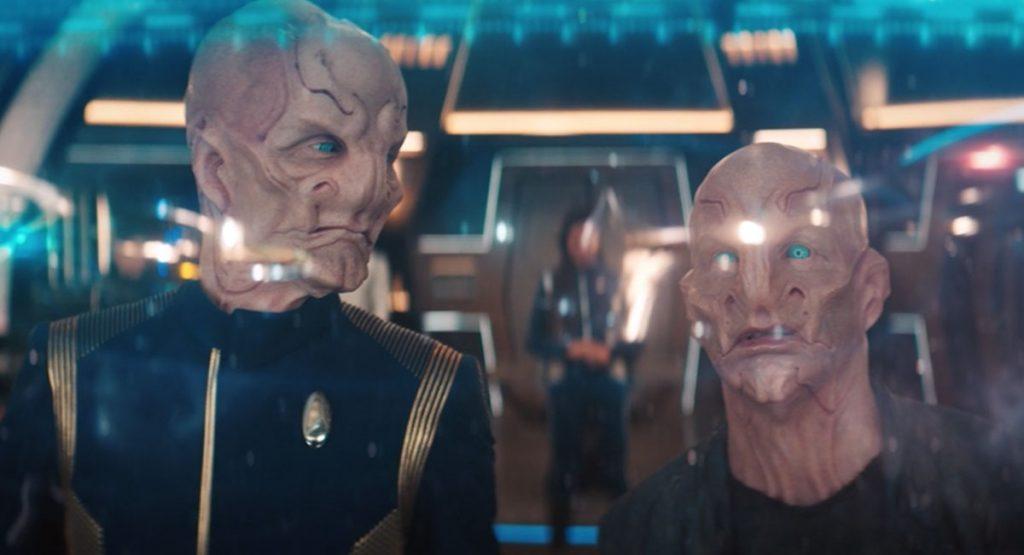 Doug Jones as Saru and Bill Irwin as Su'Kal