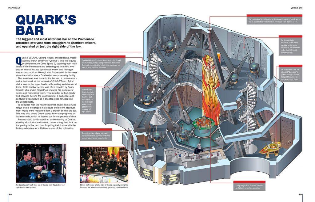 Interior spread of Quark's Bar