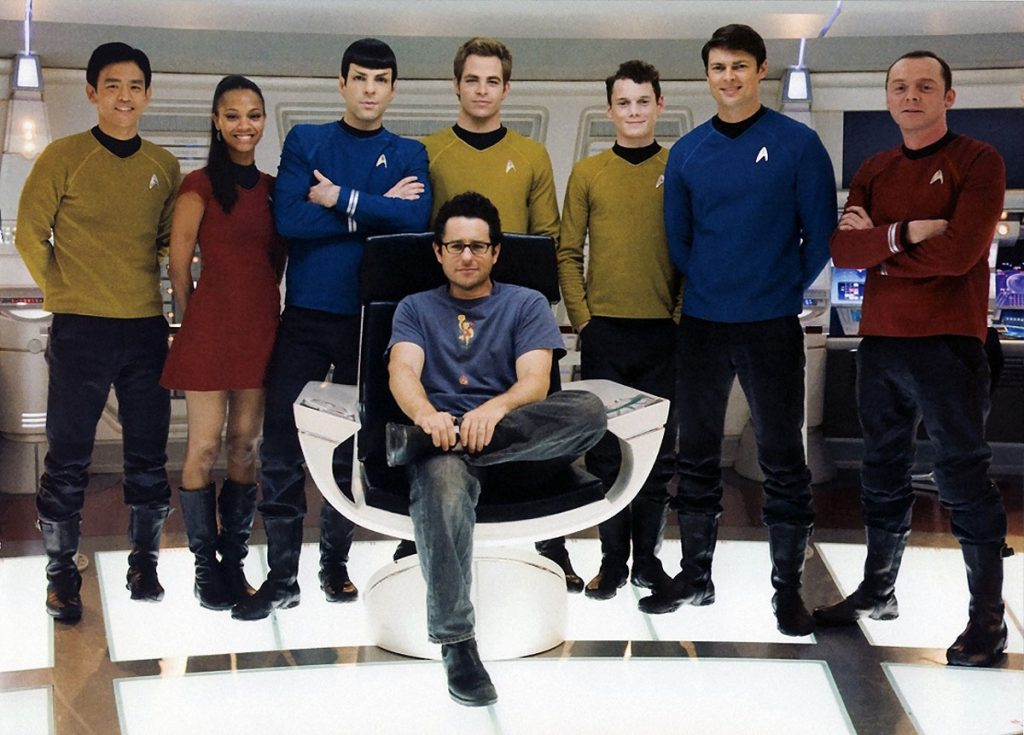 J.J. Abrams and the cast of 2009's Star Trek