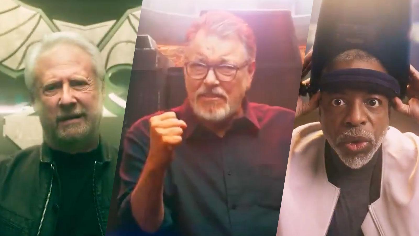 Star Trek: TNG Cast Members Jonathan Frakes, LeVar Burton & Brent Spiner Reunited For Star Trek Fleet Command Video