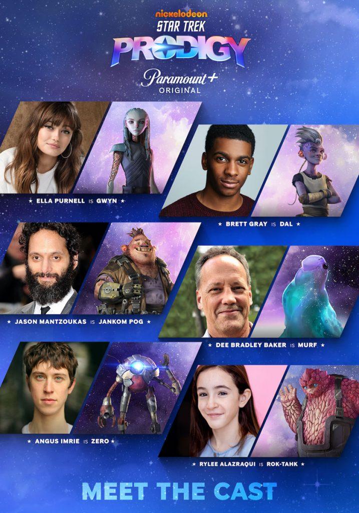 The cast of Star Trek: Prodigy
