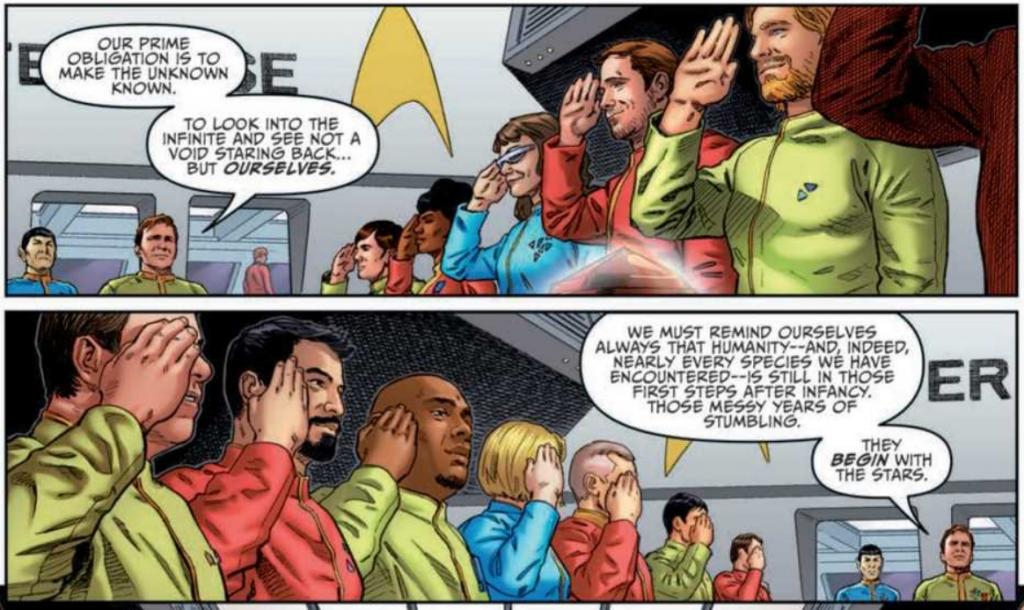 Art from STAR TREK: YEAR FIVE #22 by Stephen Thompson and Charlie Kirchoff
