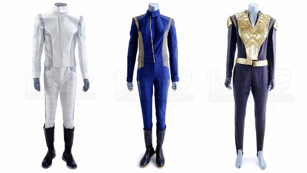 Hugh Culber's (Wilson Cruz) Medical Uniform with Non-Matching Boots, Michael Burnham's (Sonequa Martin-Green) Command Uniform, Sylvia Tilly's (Mary Wiseman) Mirror Universe Uniform