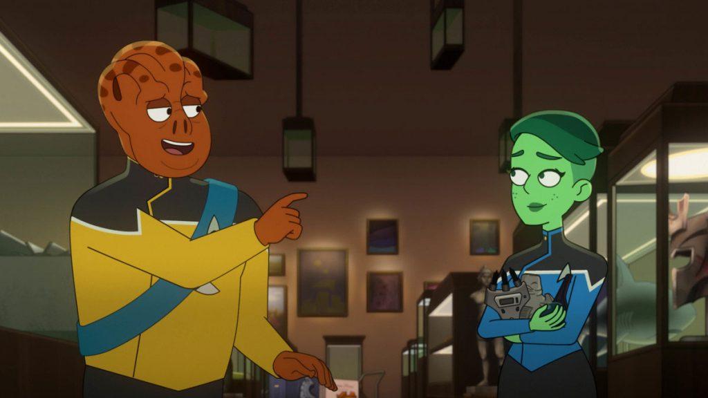 Carl Tart as Lieutenant Kayshon and Noel Wells as Ensign Tendi