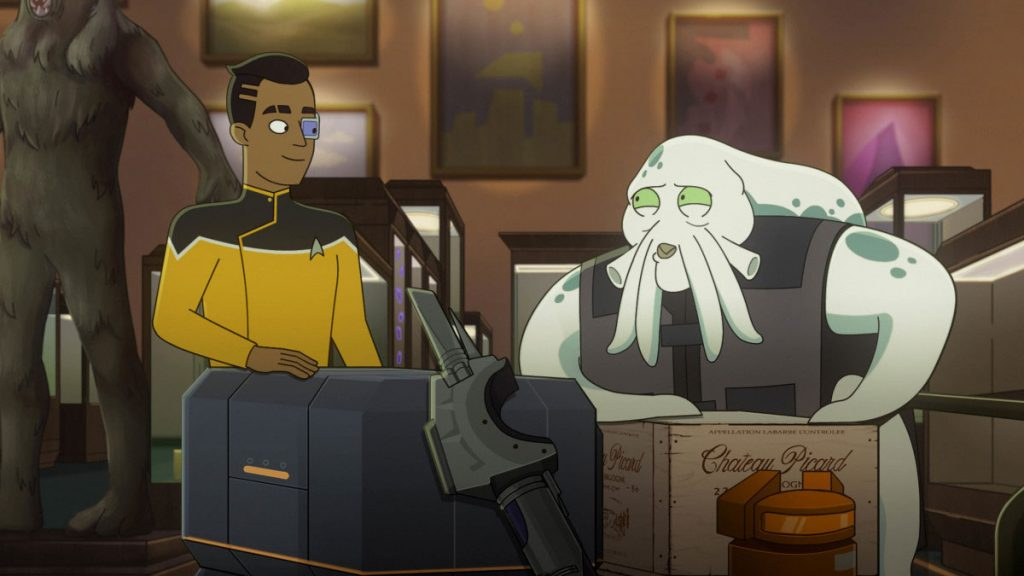 Eugene Cordero as Ensign Rutherford and Siggi