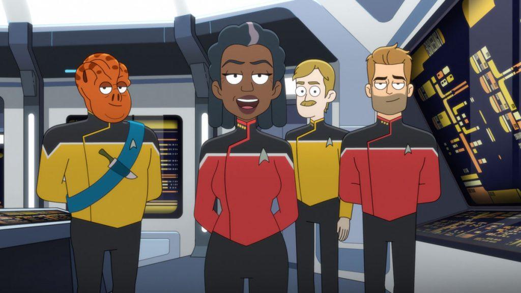 Carl Tart as Lieutenant Kayshon, Dawnn Lewis as Captain Carol Freeman and Jerry O'Connell as Commander