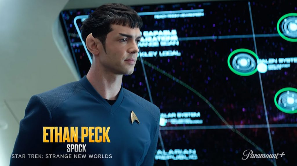 Ethan Peck come Spock