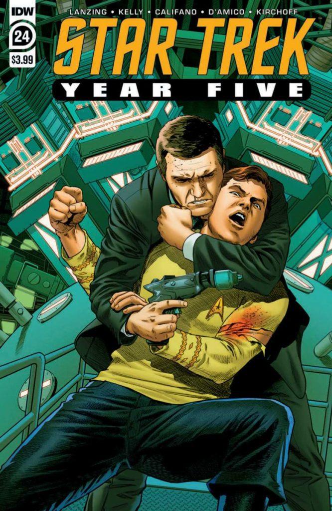 STAR TREK: YEAR FIVE #24 Regular Cover by Stephen Thompson & Charlie Kirchoff